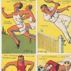 Coleccionismo deportivo: JEUX OLIMPIQUES-PARIS 1924.LAS 10 TARJETAS(14X9)REPRESENTADO FOOTBALL,BOXE,..RARA COMPLETA. Lote 28858456