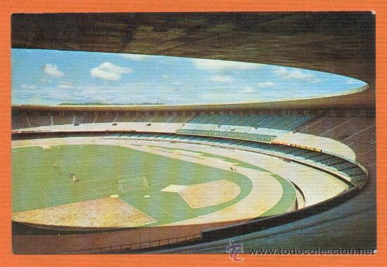 ESTADIO MINEIRAO - CRUZEIRO Y AT. MINEIRO - BELO HORIZONTE ORIGINAL AÑOS 70 BRASIL (Coleccionismo Deportivo - Postales de otros Deportes )
