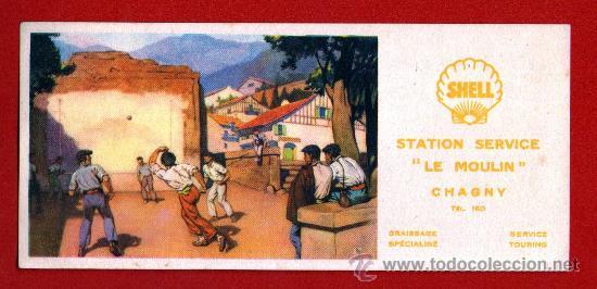 ANTIGUO PAPEL SECANTE FRANCÉS DEDICADO A LA PELOTA VASCA - AÑOS 50 - SIN USAR (Coleccionismo Deportivo - Postales de otros Deportes )