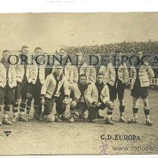 Coleccionismo deportivo: (F-129)POSTAL FOTOGRAFICA DEL C.D.EUROPA AÑOS 20. Lote 29730266