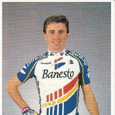 Coleccionismo deportivo: POSTAL FOTO DE CICLISMO - BICICLETA -EQUIPO CICLISTA 91 BANESTO - CORREDOR RUBEN GOROSPE. Lote 29832016