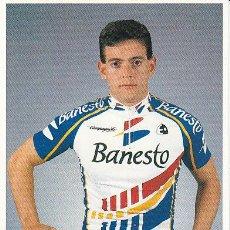 Coleccionismo deportivo: POSTAL FOTO DE CICLISMO - BICICLETA -EQUIPO CICLISTA 91 BANESTO - CORREDOR ROBERTO LEZAUN. Lote 29832036