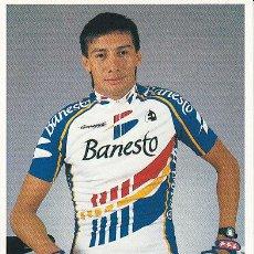 Coleccionismo deportivo: POSTAL FOTO DE CICLISMO - BICICLETA -EQUIPO CICLISTA 91 BANESTO - CORREDOR ABELARDO RONDON. Lote 29832516