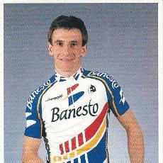 Coleccionismo deportivo: POSTAL FOTO DE CICLISMO - BICICLETA -EQUIPO CICLISTA 91 BANESTO - CORREDOR JOKIN MUJIKA. Lote 29832534