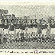 Coleccionismo deportivo: (F-99)CROMO POSTAL DEL BURJASOT FUTBOL CLUB AÑOS 30. Lote 29964314