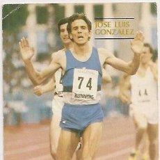 Coleccionismo deportivo: ATLETISMO. TARJETA DE JOSÉ LUIS GONZÁLEZ. Lote 31026762