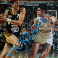 Coleccionismo deportivo: POSTAL BALONCESTO BASKET CONVERSE TONY KUKOC CHECHU BIRIUKOV. Lote 32606425