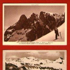 Coleccionismo deportivo: LOTE DE 2 ANTIGUAS POSTALES DE ALPINISMO - LES BELLEDONNE Y EL PUY-MARY - AÑOS '20 DEL SIGLO XX. Lote 33696112