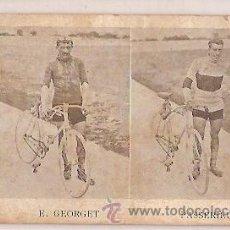 Coleccionismo deportivo: ANTIGUA POSTAL TOUR DE FRANCE 1907 E GEORGET Y PASSERIEU ESCRITA . Lote 33969519