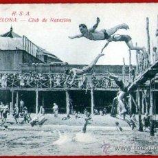 Coleccionismo deportivo: ANTIGUA POSTAL: CLUB DE NATACIÓN DE BARCELONA A PIE DE PLAYA - EDITORIAL ROVIRA - SIN USAR. Lote 34671659