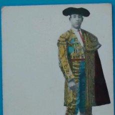 Coleccionismo deportivo: POSTAL EN COLOR CON BRILLOS DEL TORERO ANTONIO MONTES. 1905.. Lote 34907570