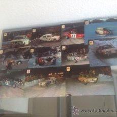 Coleccionismo deportivo: LOTE DE POSTALES DE RALLYE SERIE DE 11 POSTALES && FALTA 1 POSTAL N-5 &&. Lote 35067785