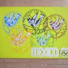 Coleccionismo deportivo: POSTAL OLIMPIADA MEXICO 68. ORIGINAL DE ÉPOCA. RELIEVE EN TERCIOPELO. . Lote 36653111