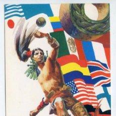 Coleccionismo deportivo: OLIMPIADA MEXICO 1968. POSTAL DE LA ÉPOCA. JUEGO DE PELOTA AZTECA. JUEGOS OLÍMPICOS. Lote 37079675