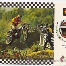 Coleccionismo deportivo: POSTAL DE MOTOCICLISMO. BULTACO. JORGE CAPAPEY. Lote 37615573