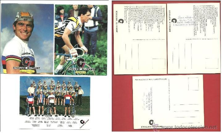 POSTALES RENAULT ELF CYCLES GITANE BERNARD HINAULT YVON BERTIN GREG LEMOND (Coleccionismo Deportivo - Postales de otros Deportes )