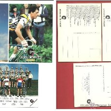Coleccionismo deportivo: POSTALES RENAULT ELF CYCLES GITANE BERNARD HINAULT YVON BERTIN GREG LEMOND. Lote 39771504