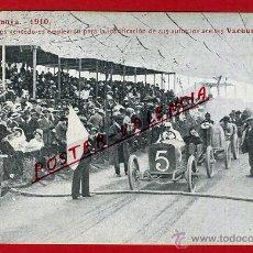Coleccionismo deportivo: POSTAL AUTOMOVIL , COPA CATALUNYA 1910, PUBLICICAD ACEITES VACUUM MOBILOIL , ORIGINAL, P90406. Lote 40051127