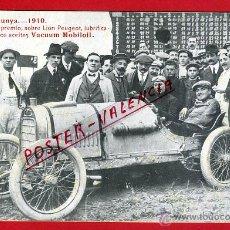 Coleccionismo deportivo: POSTAL AUTOMOVIL , COPA CATALUNYA 1910, PUBLICICAD ACEITES VACUUM MOBILOIL , ORIGINAL, P90407. Lote 40051150
