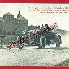 Coleccionismo deportivo: POSTAL AUTOMOVIL , VUELTA A CATALUÑA, PUBLICIDAD PNEUS PIRELLI , ELIZALDE , ORIGINAL, P90500. Lote 40055034