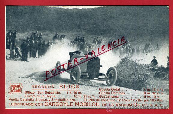 POSTAL AUTOMOVIL , VUELTA A CATALUÑA, PUBLICIDAD RECORDS BUICK , ORIGINAL, P90500E (Coleccionismo Deportivo - Postales de otros Deportes )