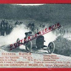 Coleccionismo deportivo: POSTAL AUTOMOVIL , VUELTA A CATALUÑA, PUBLICIDAD RECORDS BUICK , ORIGINAL, P90500E. Lote 40055081