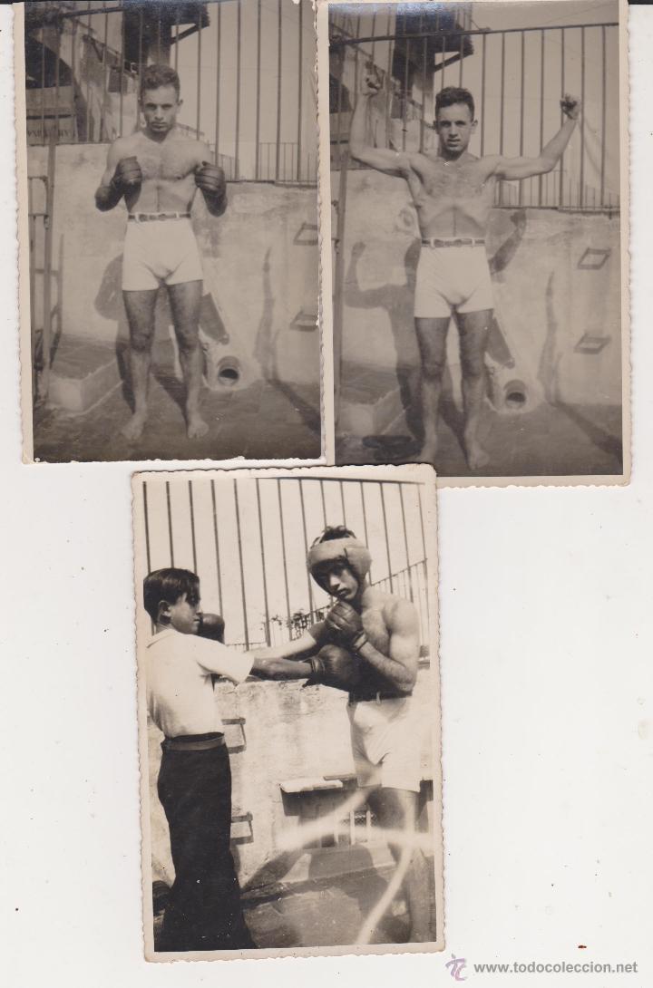 LOTE 3 TARJETAS POSTALES BOXEADOR 1932 (Coleccionismo Deportivo - Postales de otros Deportes )