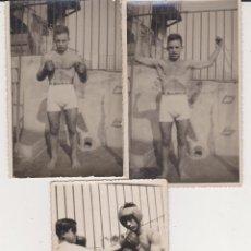 Coleccionismo deportivo: LOTE 3 TARJETAS POSTALES BOXEADOR 1932. Lote 41132520