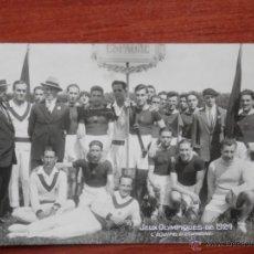 Coleccionismo deportivo: EQUIPO DE ESPAÑA JUEGOS OLÍMPICOS DE 1924 POSTAL FOTOGRÁFICA ANTIGUA. Lote 41247847