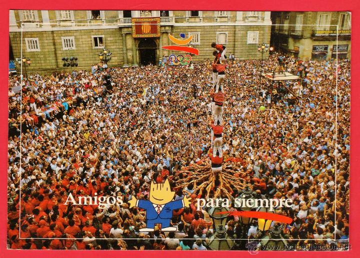 POSTAL OLIMPICA BARCELONA 92 - Nº 271 - AMIGOS PARA SIEMPRE / CASTELL - JULIAN - AÑO 1992 (Coleccionismo Deportivo - Postales de otros Deportes )