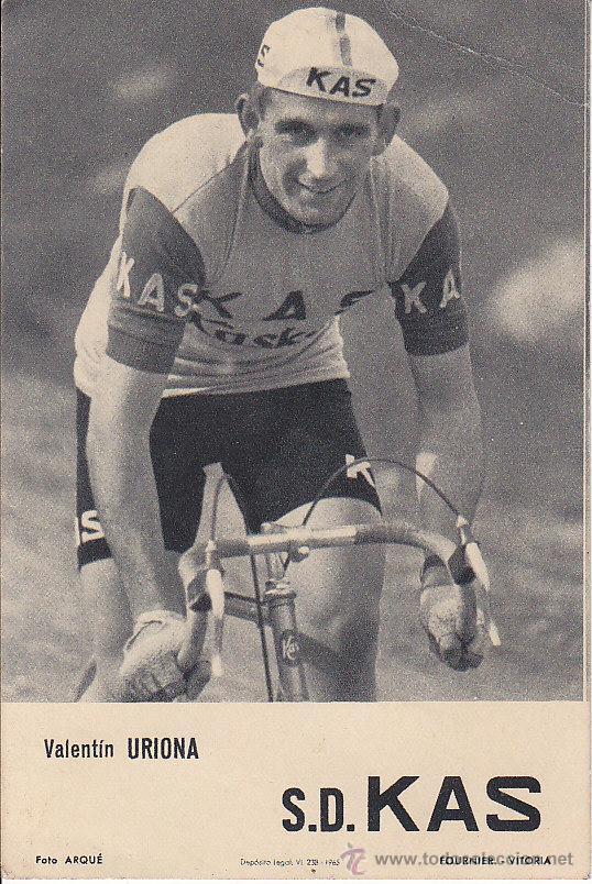POSTAL VALENTÍN URIONA - S D KAS - FOTO ARQUÉ - FOURNIER VITORIA - DEPÓSITO LEGAL VI - 238 - 1965 (Coleccionismo Deportivo - Postales de otros Deportes )