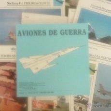 Coleccionismo deportivo: AVIONES DE GUERRA. AÑO 1992. COMPLETO 60 FICHAS. . Lote 43042589