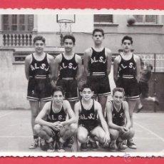 Coleccionismo deportivo: FOTOGRAFIA ++ ¿LA RECONOCE?++ BALONCESTO - COL. LA SALLE / JOSEPETS / BARCELONA - AÑOS 50/60 - RD15J. Lote 43902230