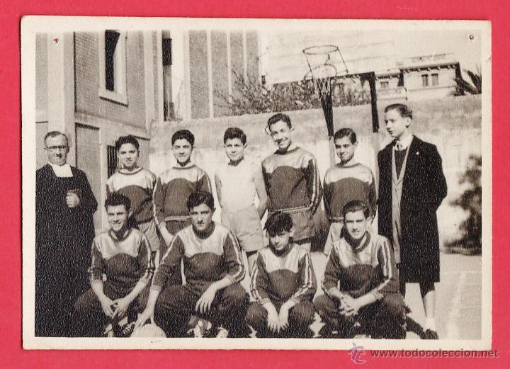 FOTOGRAFIA ++ ¿LA RECONOCE?++ BALONCESTO - COL. LA SALLE / JOSEPETS / BARCELONA - AÑOS 50/60 - RD15J (Coleccionismo Deportivo - Postales de otros Deportes )