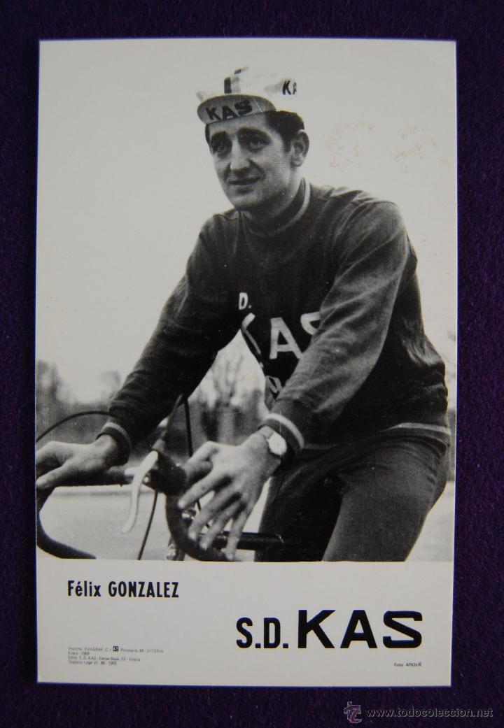 POSTAL EQUIPO CICLISTA KAS (VITORIA. ALAVA). FELIX GONZALEZ. AÑO 1969. FOTO ARQUE. (Coleccionismo Deportivo - Postales de otros Deportes )