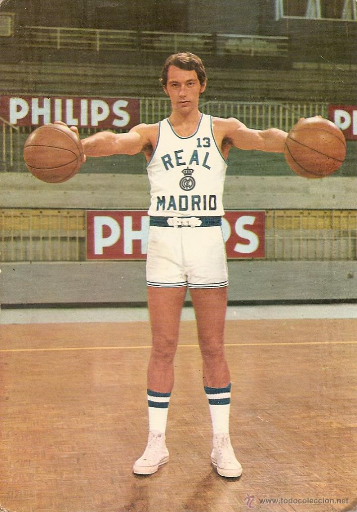 POSTAL BALONCESTO, BASKET, CLIFFORD LUKY, REAL MADRID, C. DE F., 1973, SIN CIRCULAR (Coleccionismo Deportivo - Postales de otros Deportes )