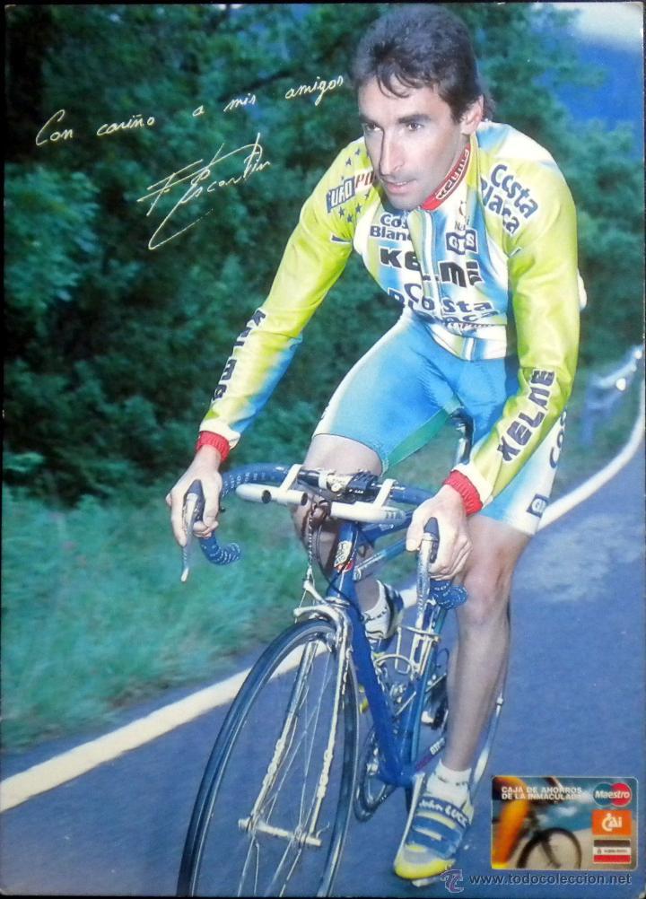 POSTAL PUBLICITARIA FERNANDO ESCARTIN CAI 1997 CICLISMO KELME (Coleccionismo Deportivo - Postales de otros Deportes )