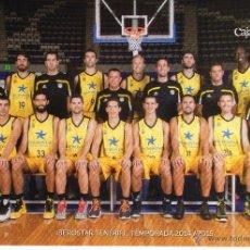 Coleccionismo deportivo: POSTAL EQUIPO BALONCESTO - IBEROSTAR TENERIFE - TEMPORADA 2014-2015. Lote 101081160