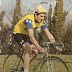 Coleccionismo deportivo: POSTAL CICLISMO DEL EQUIPO KAS, GALDOS, 1972, VER FOTO. Lote 47973074