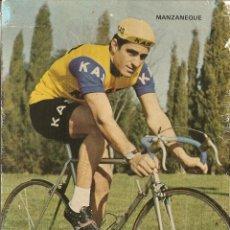 Coleccionismo deportivo: POSTAL CICLISMO DEL EQUIPO KAS, MANZANEQUE, 1972, VER FOTO. Lote 47973109