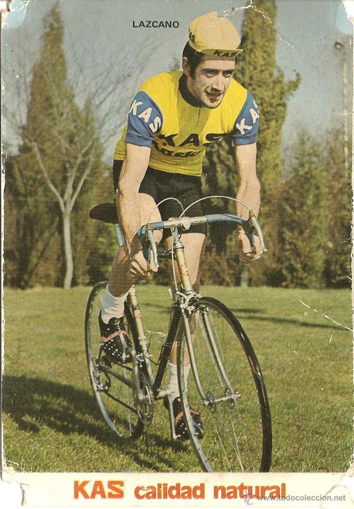POSTAL CICLISMO DEL EQUIPO KAS, LAZCANO, 1972, VER FOTO (Coleccionismo Deportivo - Postales de otros Deportes )