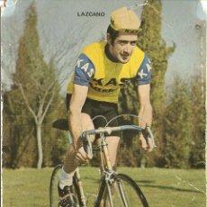 Coleccionismo deportivo: POSTAL CICLISMO DEL EQUIPO KAS, LAZCANO, 1972, VER FOTO. Lote 47973119
