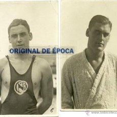 Coleccionismo deportivo: (F-0039)LOTE DE 4 POSTALES DE LLUIS GIBERT I RIERA,NADADOR Y JUGADOR DE WATERPOLO,CLUB NATACION BAR. Lote 48196209