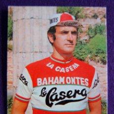 Coleccionismo deportivo: TARJETA DE 1974 DE ANDRES GANDARIAS DEL EQUIPO CICLISTA LA CASERA. (CICLISMO). BAHAMONTES.. Lote 49111690