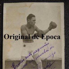 Coleccionismo deportivo: (JX-2397)POSTAL FOTOGRAFICA DEL BOXEADOR REBOLLO WITTE DEDICADA A SEGUNDO BARTOS,23-4-1925. Lote 49337614