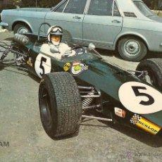 Coleccionismo deportivo: POSTAL F.2, BRABHAM, DE ALAN REES, MONTJUICH 1968, SIN CIRCULAR. Lote 50263764