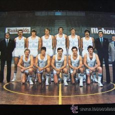 Coleccionismo deportivo: POSTAL DEL REAL MADRID DE BALONCESTO, DE MEDIADOS DE LOS AÑOS 70. Lote 51646216