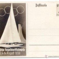 Coleccionismo deportivo: JUEGOS OLÍMPICOS DE BERLIN 1936, KIEL, VELA. Lote 51864878