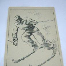Coleccionismo deportivo: ANTIGUA LAMINA SKI ESQUIADOR MESEGUER. Lote 52375885