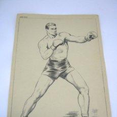 Coleccionismo deportivo: ANTIGUA LAMINA BOXEO BOXEADOR MESEGUER. Lote 52375899
